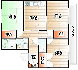 エメリー横代II A棟[2階]の間取り