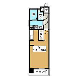 中ノ坂レジデンス[5階]の間取り