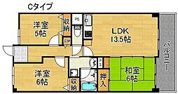 サワー・ドゥー住之江公園[3階]の間取り