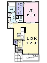 埼玉県上尾市原市の賃貸アパートの間取り