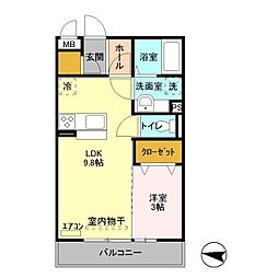 JR京浜東北・根岸線 大宮駅 徒歩14分の賃貸アパート 2階1LDKの間取り