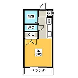 クリーン高蔵寺[3階]の間取り