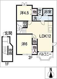 シルキー[2階]の間取り