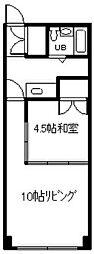 東ハイツ88[406号室]の間取り