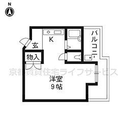 カーサYASUI[202号室]の間取り