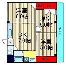 マンション青柳[402号室]の間取り