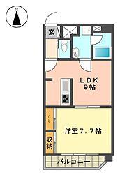 愛知県名古屋市名東区猪子石2の賃貸マンションの間取り