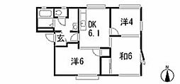 メゾンサトミーナB[2階]の間取り