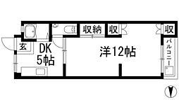 兵庫県川西市久代3丁目の賃貸マンションの間取り