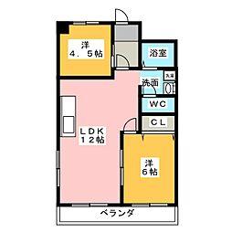 コトブキ第1ビル[4階]の間取り