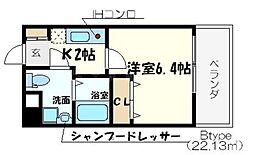 ダイドーメゾン大阪北堀江[8階]の間取り