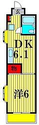 ジュネシオンMITSURU[3階]の間取り