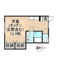 メイプル熊野[1階]の間取り