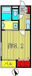 トップワイ上本郷[2階]の間取り