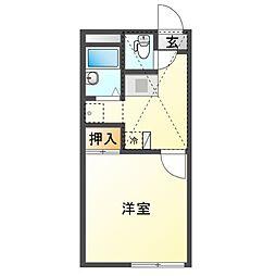 JR赤穂線 邑久駅 徒歩6分の賃貸アパート 1階1Kの間取り