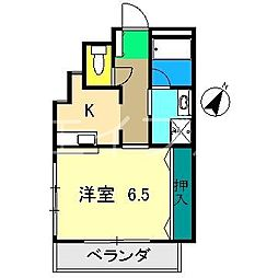 デュエル大川筋[3階]の間取り
