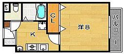 ユニバーサルコート[108号室]の間取り