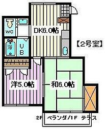 埼玉県さいたま市南区白幡1丁目の賃貸アパートの間取り