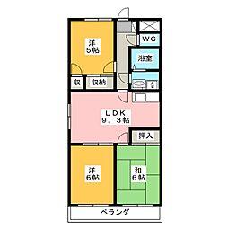 マンション景桜[2階]の間取り