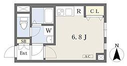 東京メトロ丸ノ内線 四谷三丁目駅 徒歩7分の賃貸マンション 4階ワンルームの間取り