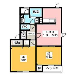 サンフラワーB[2階]の間取り