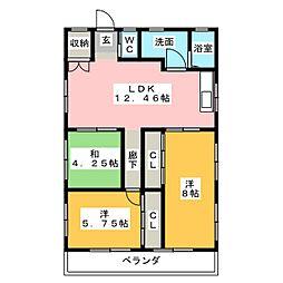 カトウコーポ[1階]の間取り