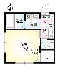セレーノ田浦II[101号室]の間取り