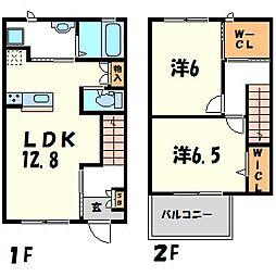 [テラスハウス] 兵庫県尼崎市武庫之荘6丁目 の賃貸【/】の間取り