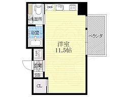 COZY名城公園 6階ワンルームの間取り