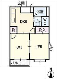 エクセル三崎[2階]の間取り