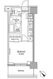 ザ・パークハビオ月島フロント 2階1Kの間取り