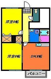 セレーノ弐番館[1階]の間取り