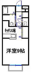 兵庫県姫路市広畑区本町2丁目の賃貸アパートの間取り