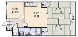 広島県広島市安佐南区西原4の賃貸マンションの間取り