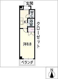 レイキャビック稲永[3階]の間取り