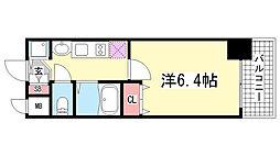 プレサンス三ノ宮駅前プライムタイム[3階]の間取り