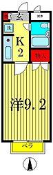 セントエルモ新松戸[3階]の間取り