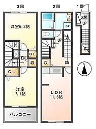 ラフレシールI[2階]の間取り