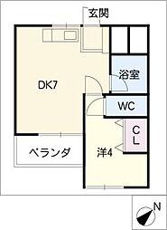 日の出マンション[2階]の間取り