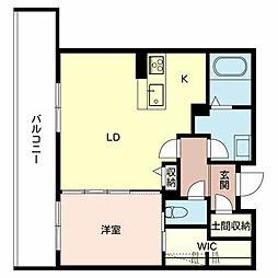 (仮称)堺市堺区シャーメゾン三国ヶ丘[3階]の間取り