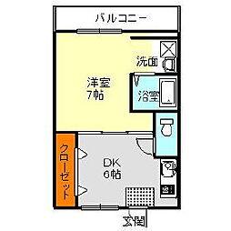 ヴィラナリー富田林3号棟[1階]の間取り