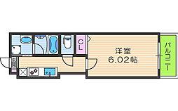 Kalmia北梅田[3階]の間取り