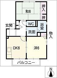 ボナール西口C棟[1階]の間取り