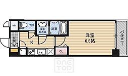 レジュールアッシュ京橋クロス[3階]の間取り