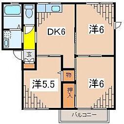 メゾンミヤニシA[202号室号室]の間取り