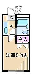 ポニーハイム[1階]の間取り