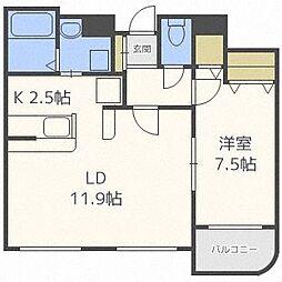 TA21宮ヶ丘[102号室]の間取り