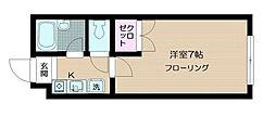 シャルレ早稲田[103号室]の間取り