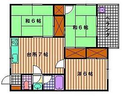山下マンション[302号室]の間取り