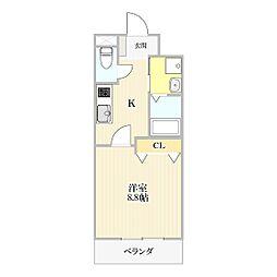 スカイハイム桜II[203号室]の間取り